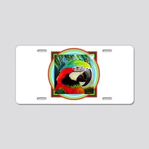 Macaw Parrot Aluminum License Plate