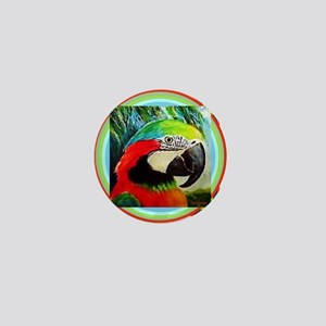 Macaw Parrot Mini Button