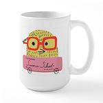 Nerdy Chicks Rule Summer School Large Mug Mugs