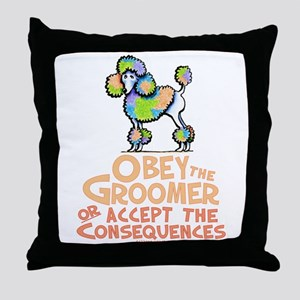Obey The Groomer Throw Pillow
