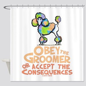 Obey The Groomer Shower Curtain