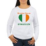 O'Mallun, Valentine's Day Women's Long Sleeve T-Sh