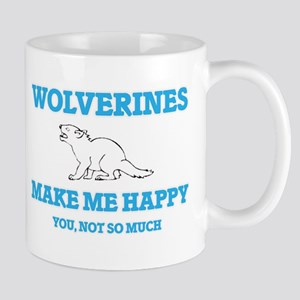 Wolverines Make Me Happy Mugs