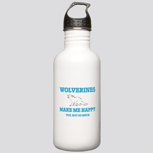 Wolverines Make Me Hap Stainless Water Bottle 1.0L