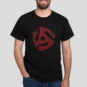 Distressed 45 Rpm Insert Dark T-Shirt