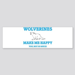 Wolverines Make Me Happy Bumper Sticker