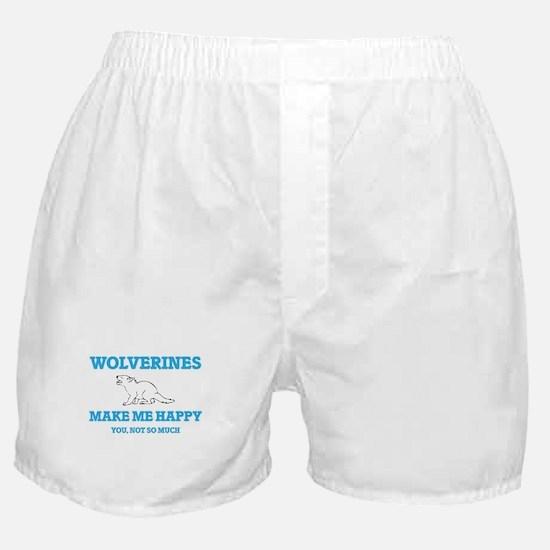 Wolverines Make Me Happy Boxer Shorts