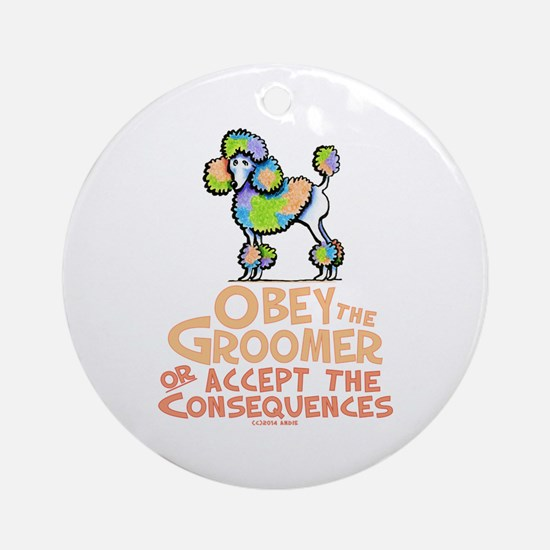 Obey The Groomer Ornament (Round)