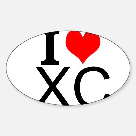 I Love Cross Country Decal