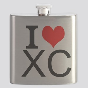 I Love Cross Country Flask
