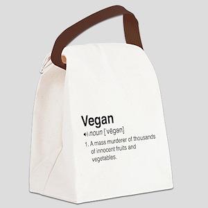 Funny vegan definition Canvas Lunch Bag