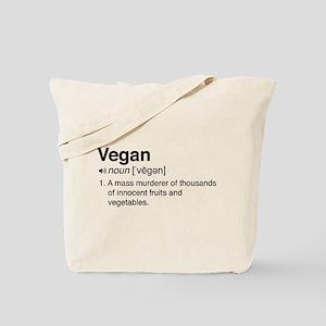 Funny vegan definition Tote Bag