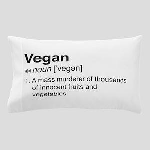 Funny vegan definition Pillow Case