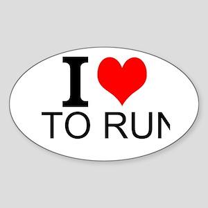 I Love To Run Sticker