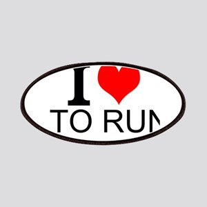 I Love To Run Patches