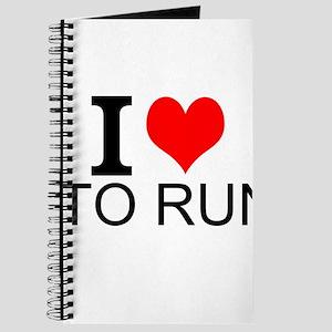 I Love To Run Journal
