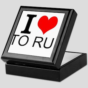 I Love To Run Keepsake Box