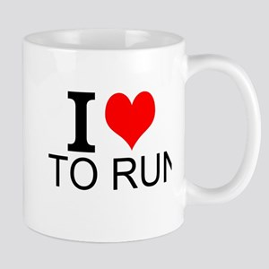 I Love To Run Mugs