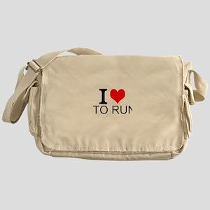 I Love To Run Messenger Bag