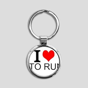 I Love To Run Keychains