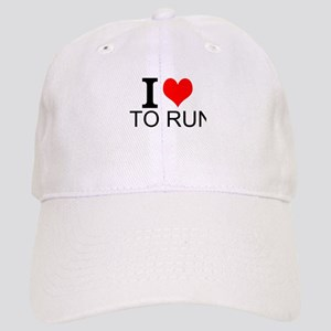 I Love To Run Baseball Cap