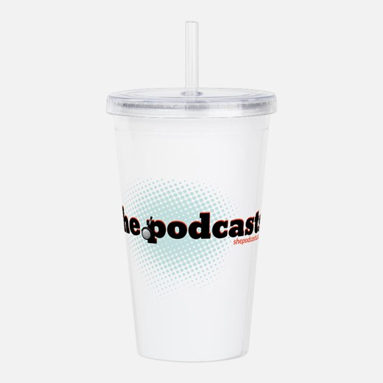 She Podcasts Logo Acrylic Double-wall Tumbler