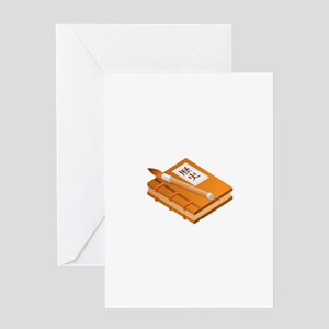 Chinese Character Books Pencil Greeting Cards