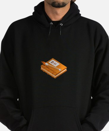 Chinese Character Books Pencil Hoodie