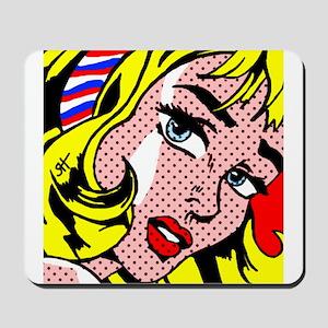 Popart Girl Mousepad