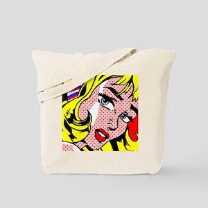 Popart Girl Tote Bag