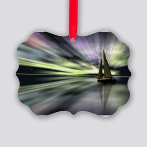 Aurora reflected sail Picture Ornament