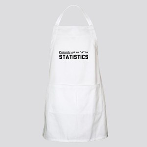 Probably an A in stats Apron
