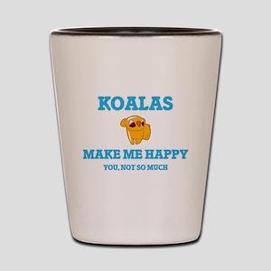 Koalas Make Me Happy Shot Glass