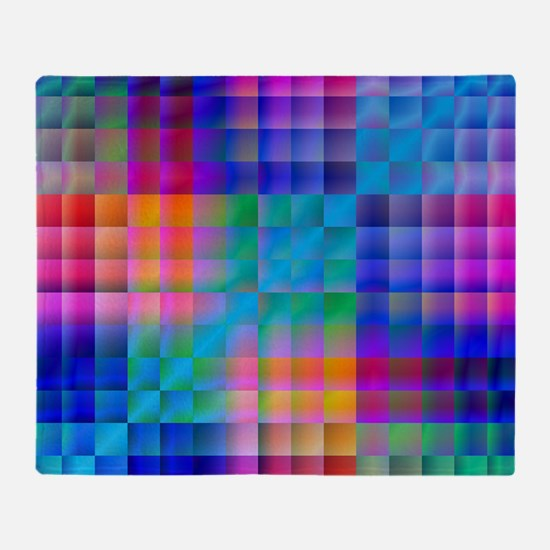 Rainbow Quilt Throw Blanket