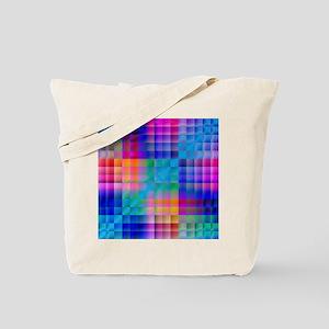 Rainbow Quilt Tote Bag