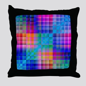 Rainbow Quilt Throw Pillow
