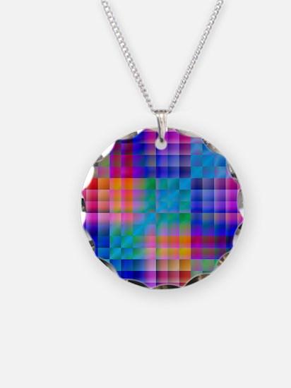 Rainbow Quilt Necklace