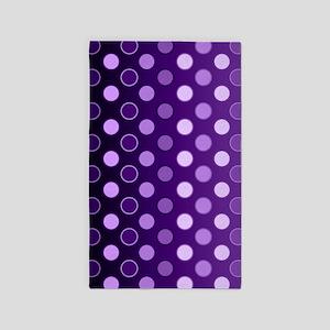 Purple Dots 3'x5' Area Rug