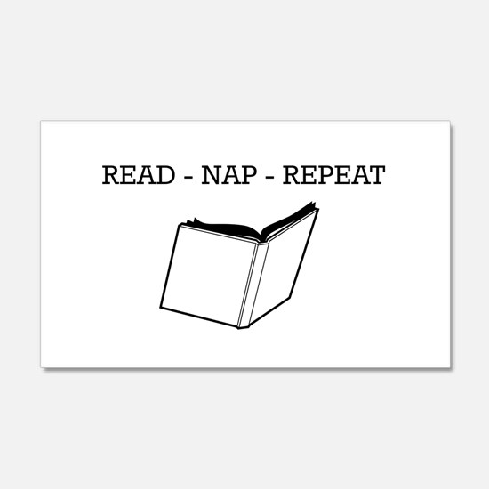 Read, nap, repeat Wall Decal