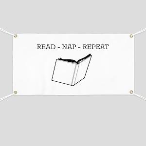 Read, nap, repeat Banner