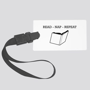 Read, nap, repeat Luggage Tag