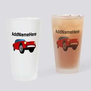 Sports Car, Custom Name Drinking Glass