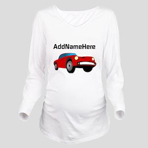 Sports Car, Custom Name Long Sleeve Maternity T-Sh