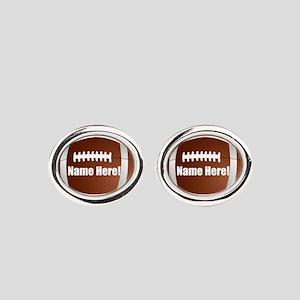 Personalized Football Oval Cufflinks