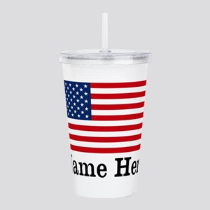 Personalized American Flag Acrylic Double-wall Tum