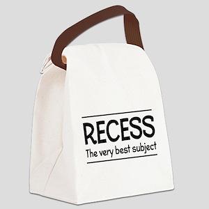 Recess best subject Canvas Lunch Bag
