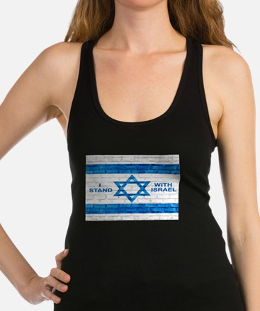I Stand With Israel Racerback Tank Top