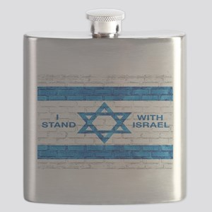 I Stand With Israel Flask