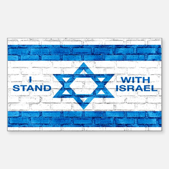 I Stand With Israel Sticker (rectangle)