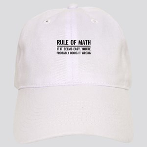 Rule of math Baseball Cap